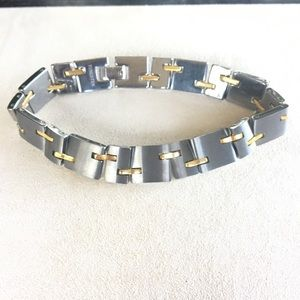 "Other - TUNGSTEN And Brass Men Bracelet Sz 9""."